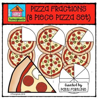 Pizza Fractions (COLOR ONLY) {P4 Clips Trioriginals Digita