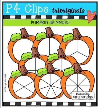 Pumpkin Spinners {P4 Clips Trioriginals Digital Clip Art}
