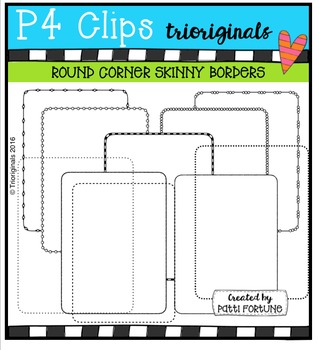 Round Corner Skinny Borders {P4 Clips Trioriginals Digital