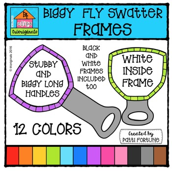 Stubby and Biggy Long Swatter Frames {P4 Clips Trioriginals}