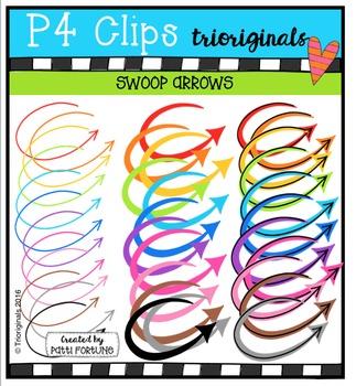 Swoop Arrows  {P4 Clips Trioriginals Digital Clip Art}