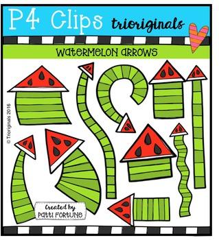Watermelon Arrows {P4 Clips Trioriginals Digital Clip Art}