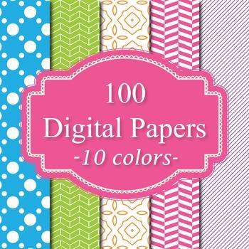 100 Basic Digital Papers Set 3