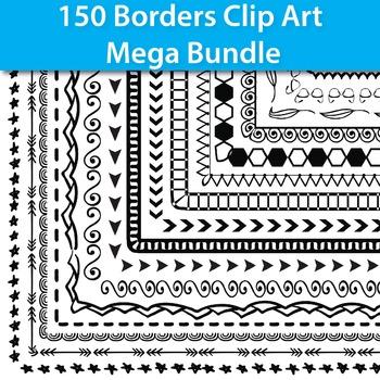 #dealsinOctober  150 Borders Clip Art Mega Bundle