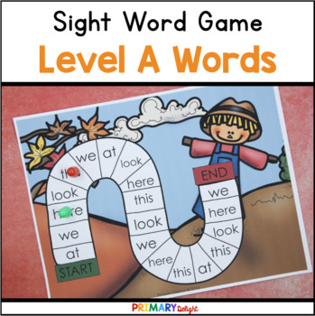 Sight Word Games for Kindergarten - Fall (Autumn) - Level A