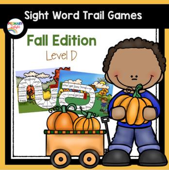 Sight Word Games for Kindergarten - Fall (Autumn) - Level D