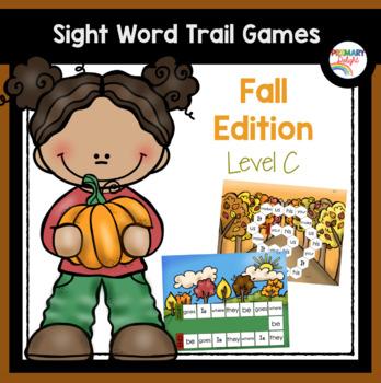 Sight Word Games for Kindergarten - Fall (Autumn) - Level C