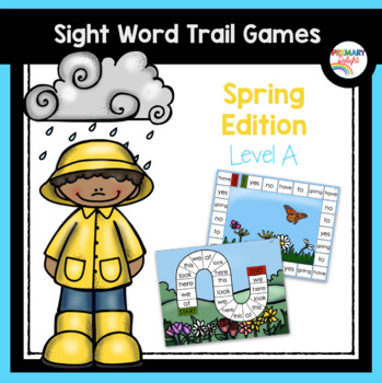 Sight Word Games for Kindergarten - Spring  (Level A)