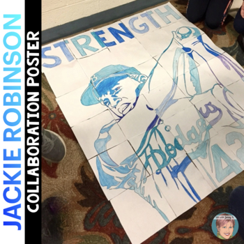 Jackie Robinson Collaboration Poster - Great Black History