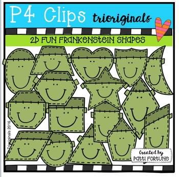 2D FUN Frankenstein Shapes (P4 Clips Trioriginals Digital