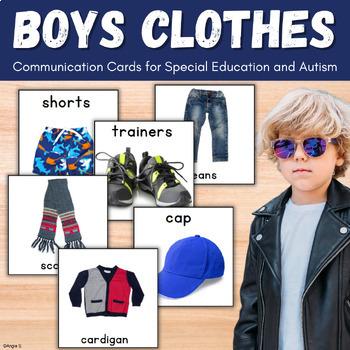 Autism Communication Cards -Boys Clothing