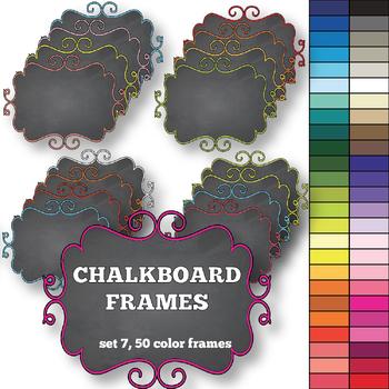 Chalkboard Frames set 7
