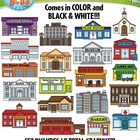 Community Buildings Clipart Set — Includes 40 Graphics!