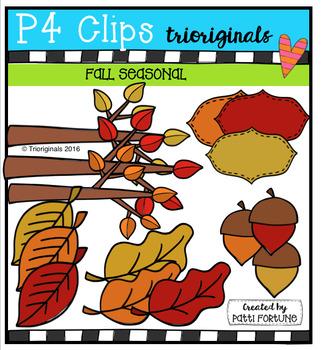 Fall Seasonal (P4 Clips Trioriginals Digital Clip Art)
