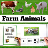 Farm Animals BUNDLE - Vocabulary Photo Cards, Activities,