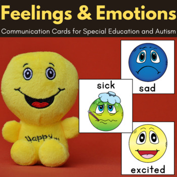 Feelings and Emotions - Autism Communication Cards, Visual