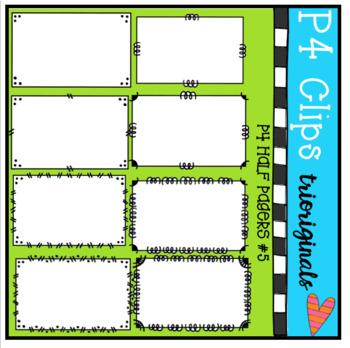 Half Pager #5 (P4 Clips Trioriginals Clip Art)