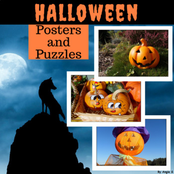 {50% OFF} Halloween Photo Puzzles and Posters, Cut and Pas