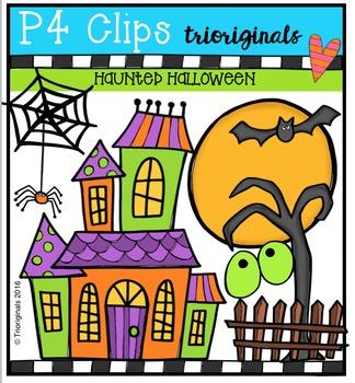 Haunted Halloween (P4 Clips Trioriginals Digital Clip Art)