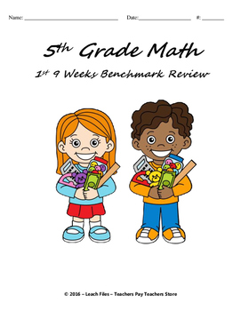 **50% OFF-LIMITED TIME** GRADE 5 Math Q1 BENCHMARK REVIEW