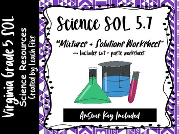 **50% OFF LIMITED TIME** SOL 5.4E MIXTURES-SOLUTIONS WORKSHEET