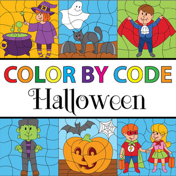 Make Your Own Color By Number - Halloween Theme