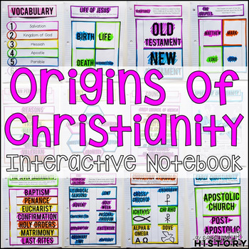 Origins of Christianity Interactive Notebook and Graphic O