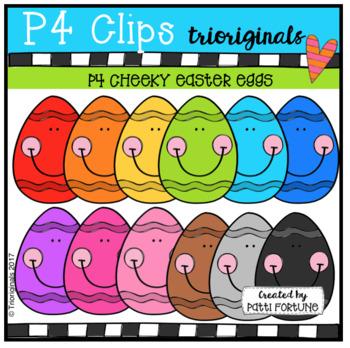 P4 CHEEKY Easter Eggs (P4 Clips Trioriginals Clip Art)