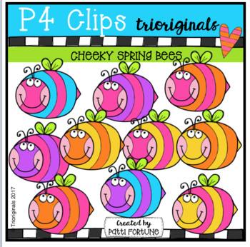 P4 CHEEKY Spring Bees (P4 Clips Trioriginals Clip Art)