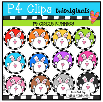 P4 CIRCLES Bunnies (P4 Clips Trioriginals Clip Art)