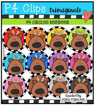 P4 CIRCLES Reindeer (P4 Clips Trioriginals Digital Clip Art)