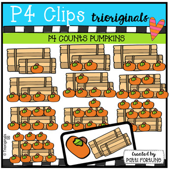 P4 COUNTS 1-10 Fall Pumpkins (P4 Clips Trioriginals Clip Art)