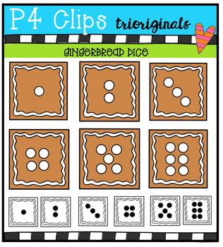 P4 DICE Gingerbread (P4 Clips Trioriginals Digital Clip Art)