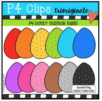 P4 DOTTY Easter Eggs (P4 Clips Trioriginals Clip Art)
