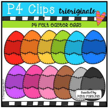 P4 FELT Easter Eggs (P4 Clips Trioriginals Clip Art)