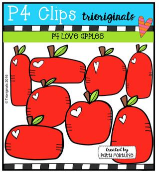 P4 LOVE Apples (P4 Clips Trioriginals Digital Clip Art)