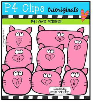 P4 LOVE Piggies (P4 Clips Trioriginals Digital Clip Art)