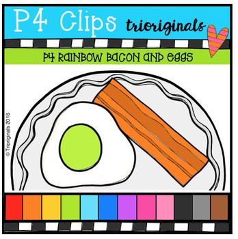 P4 RAINBOW Bacon and Eggs ( P4 Clips Trioriginals Digital