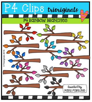 P4 RAINBOW Branches (P4 Clips Trioriginals Digital Clip Art)