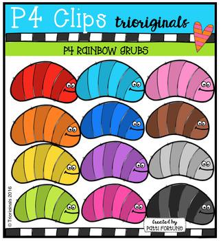 P4 RAINBOW Grubs (P4 Clips Trioriginals Digital Clip Art)