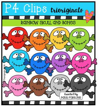 P4 RAINBOW Skull and Bones (P4 Clips Trioriginals)
