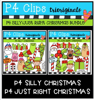 P4 SILLY and JUST RIGHT Christmas BUNDLE (P4 Clips Trioriginals)