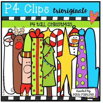 P4 TALL Christmas Time (P4 Clips Trioriginals Digital Clip Art)