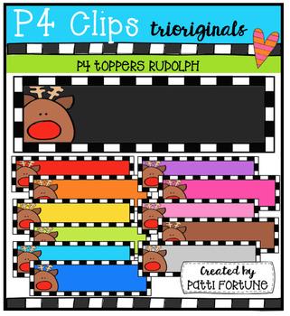 P4 TOPPERS Rudolph (P4 Clips Trioriginals Digital Clip Art)