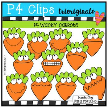 (50% OFF) P4 WACKY Carrots (P4 Clips Trioriginals Clip Art)