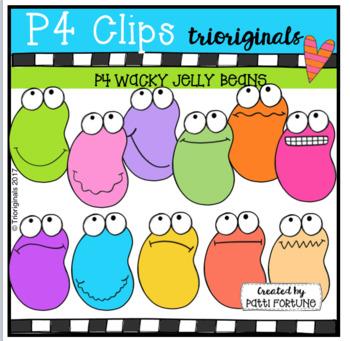 (50% OFF) P4 WACKY Jelly Beans (P4 Clips Trioriginals Clip Art)