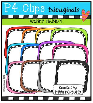 P4 WONKY Frame 1 (P4 Clips Trioriginals Digital Clip Art)