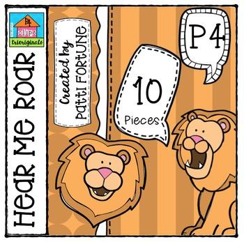 P410 Hear Me Roar Lions {P4 Clips Trioriginals Digital Clip Art}