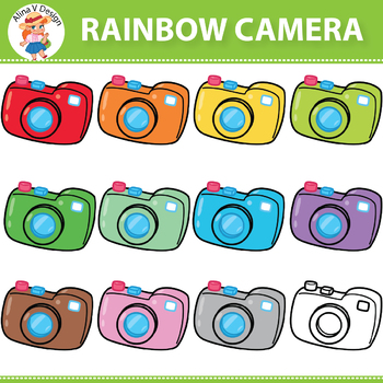 Rainbow Camera Clipart