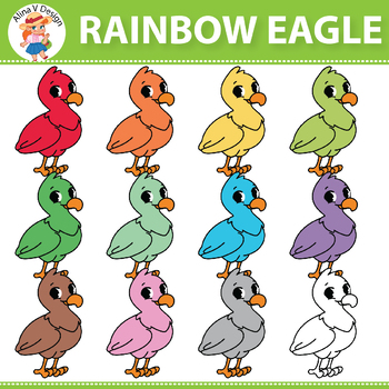 {50% OFF} Rainbow Eagle Clipart
